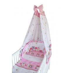 COSING Kinderbettwäsche Set 4 Teilig - EULE 2 Rosa