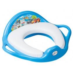 TEGA Dětské sedátko na WC měkké - Autíčka modrá