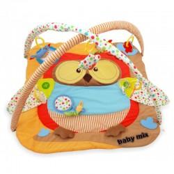 Baby Mix Hrací deka s hrazdou - Sova