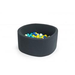 MISIOO Suchý bazén 90x30 s míčky (200ks) - Tmavě šedá