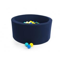 MISIOO Suchý bazén 90x30 s míčky (200ks) - Tmavě modrá