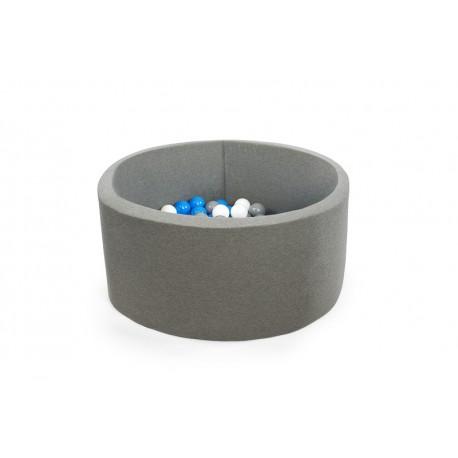 MISIOO Suchý bazén 90x40 s míčky (200ks) - šedá