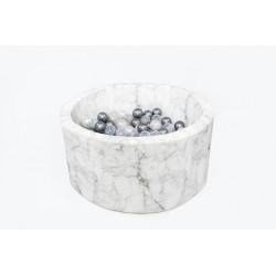 MISIOO Suchý bazén 90x40 s míčky (200ks) - Bílý Mramor