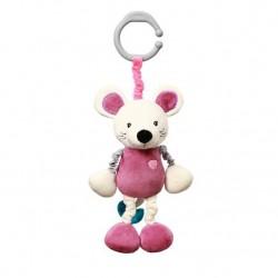 BabyOno Natahovací plyšová hračka vibrující Myška