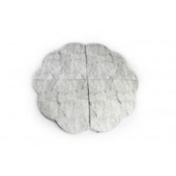 MISIOO Hrací podložka Květina - bílý mramor
