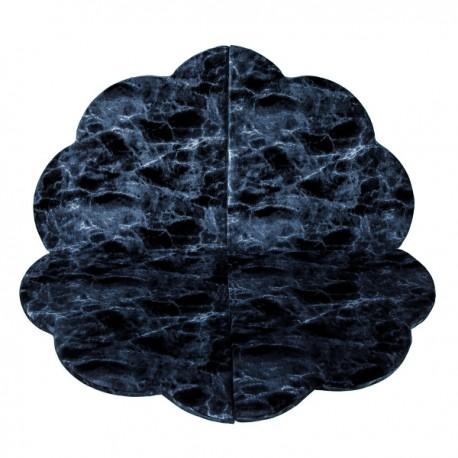 MISIOO Hrací podložka Květina - černý mramor