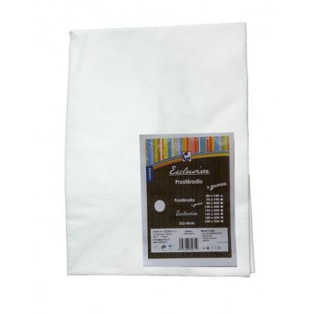 Bavlněné prostěradlo COSING 120x60 cm - BÍLÁ