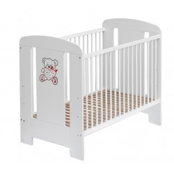 COSING Wooden Cot KAMIL 120x60 - Wenge/White