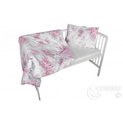 COSING 2pcs Bedding set - PEONIES WITH FLAMINGOS