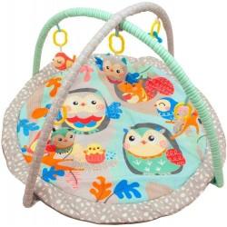 Baby Mix Hrací deka s hrazdou - Sovičky