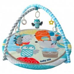 Baby Mix Hrací deka s hrazdou - Cesta Balónem