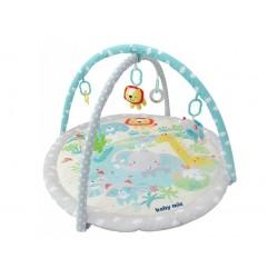 Baby Mix Hrací deka s hrazdou - Slon a přátelé