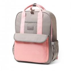 BabyOno přebalovací taška London Look růžová + podložka