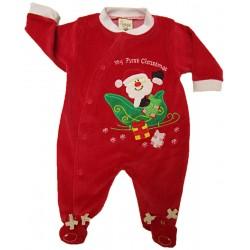 Vánoční overal - velur tkanina