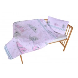 COSING 2pcs Bedding set - BEAR WITH SCARF PINK