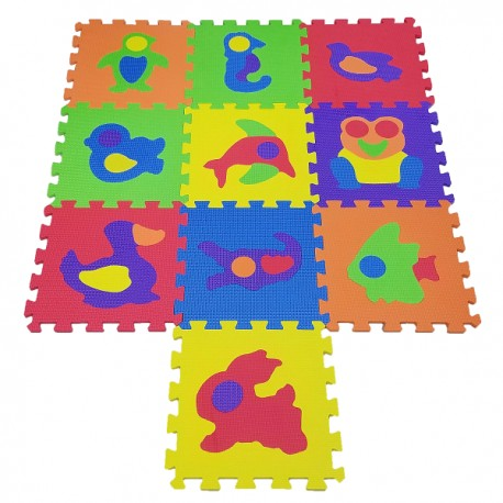 COSING EVA Puzzle Mat - Animals 10pcs